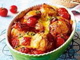 Bacon-Hähnchenfilet in Tomatenrahm Rezept