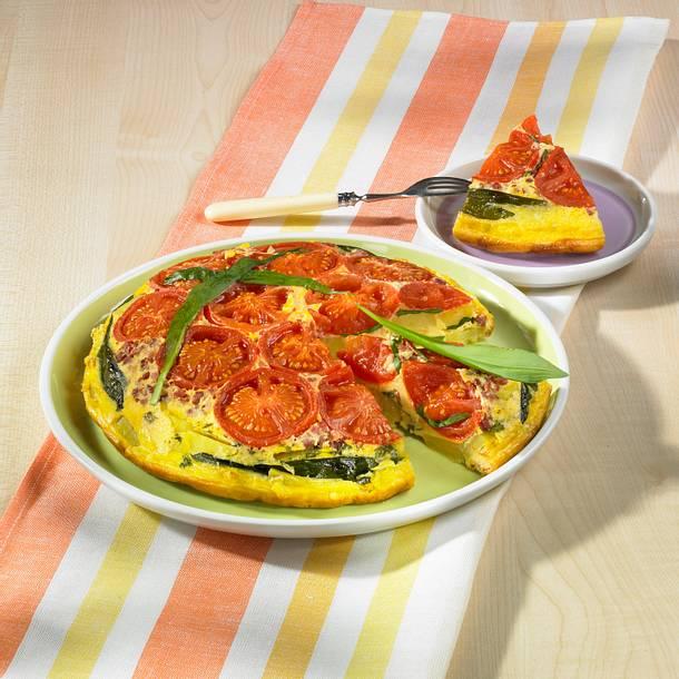 Bärlauch-Tomaten-Tortilla Rezept