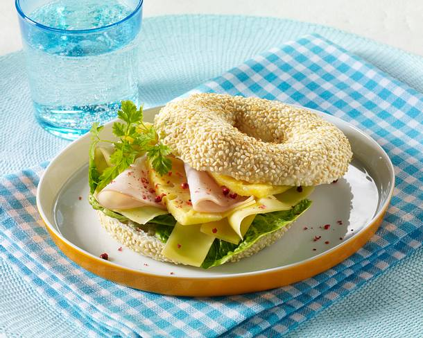 Bagel Hawaii Rezept