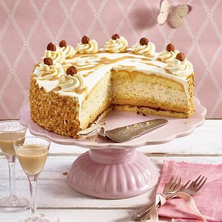 Baileys Sahne Torte Mit Nussen Rezept Lecker