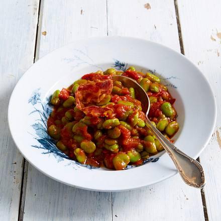 Baked Beans von Saubohnen Rezept