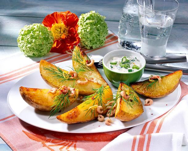 Baked Potatoe mit Krabben-Sour Cream Rezept