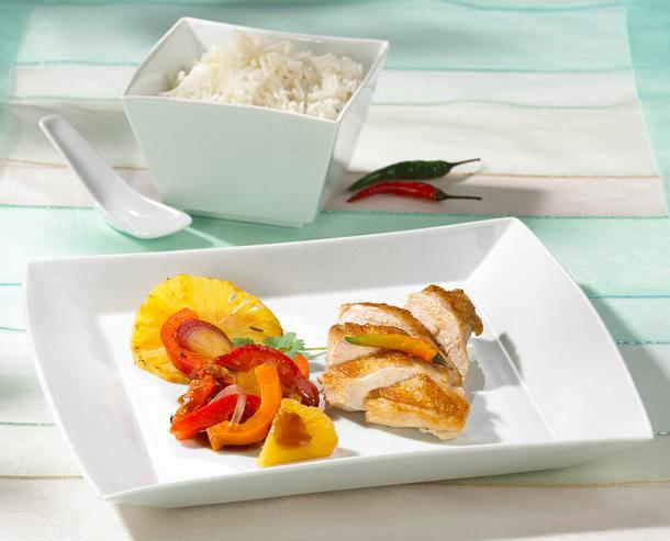 Balsamico-Hähnchen mit Paprikagemüse Rezept