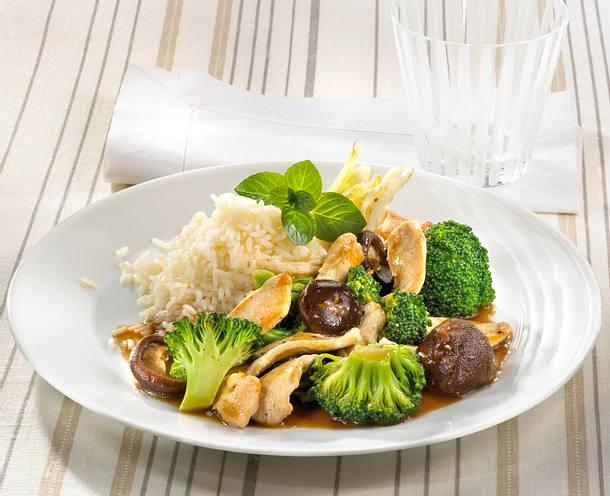 Balsamico-Huhn mit Broccoli und Reis Rezept