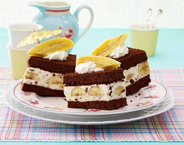 Banana-Split-Schnitten Rezept