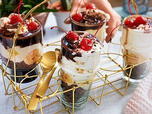 """""""Ba-na-na-na, Stayin' Alive""""-Dessert im Glas Rezept"""