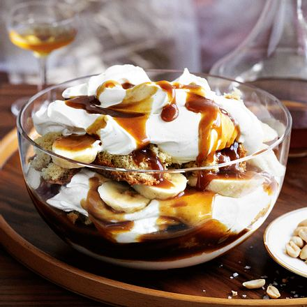 Bananen-Butterscotch-Trifle Rezept