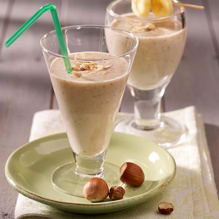 Bananen-Haselnuss-Shake Rezept