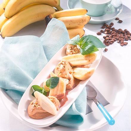 Bananen mit Cappucino-Mandelschaum Rezept