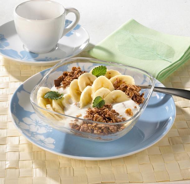 Bananen-Müsli mit Joghurt Rezept