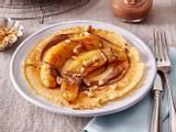 Bananen-Pfannkuchen  mit Schoko-Erdnuss-Topping Rezept