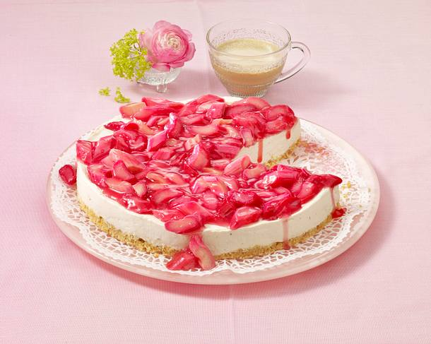 Bananen-Rhabarber-Cheesecake Rezept