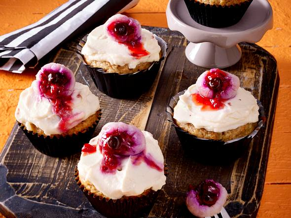 Bananenbrot-Zimt-Muffins mit Augen Rezept
