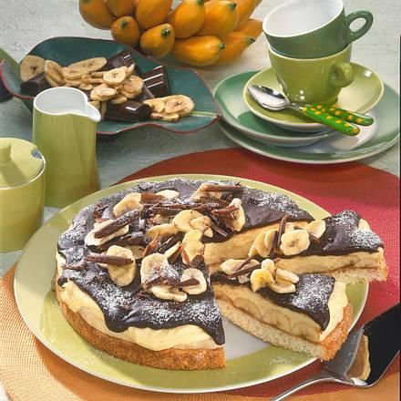 Bananenkuchen Mit Schokoladenguss Rezept Lecker