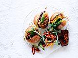 Banh-mi-Burger ganz ohne Hack Rezept