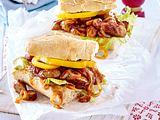 Barbecue-Sandwich mit Würstchen Rezept
