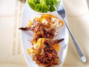 Barbecue-Wings mit süßen Marshmallow-Kartoffeln Rezept