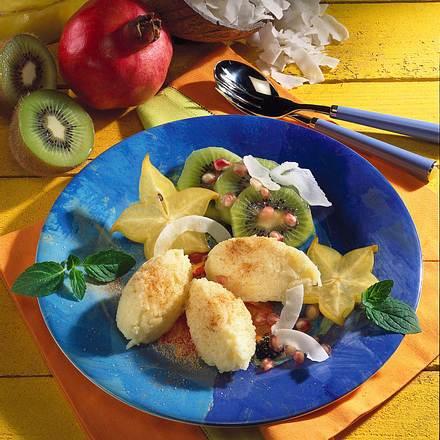 Basmati-Nockerln mit Früchten Rezept