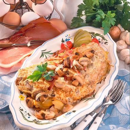 Bauernfrühstück mit Champignons Rezept