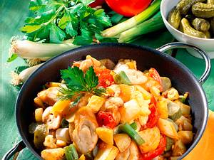 Bauernfrühstück mit geräucherter Schillerlocke Rezept