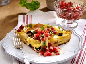 Bauernfrühstück mit Salami und Zucchini Rezept