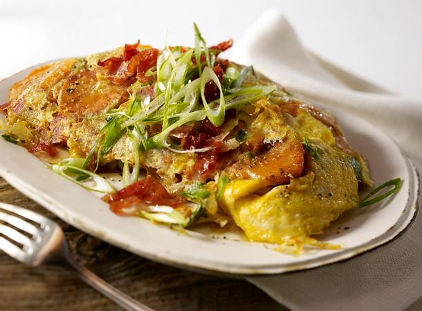 Bauernfrühstück mit Süßkartoffeln Rezept