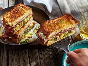 Bauernfrühstücks-Sandwich Rezept