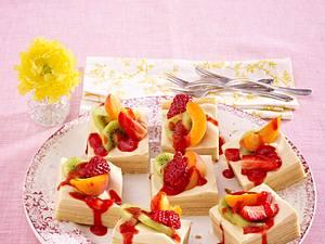 Baumkuchen mit Amarula-Creme und frischen Früchten Rezept