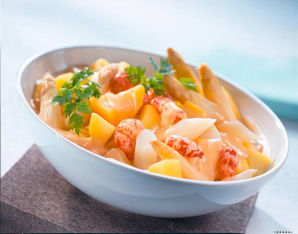 Béchamelkartoffeln mit Flusskrebsen Rezept