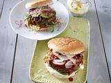 Beefsteak-Burger mit Currycreme (Frau) Rezept