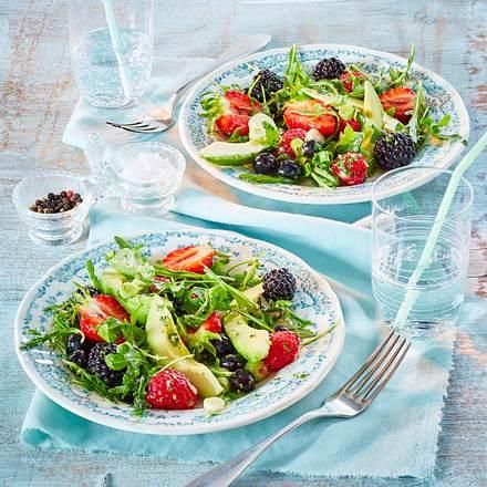 Beeren-Avocado-Salat mit Koriander-Dressing Rezept