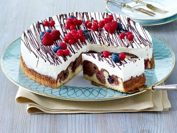 Beeren-Donauwellen-Torte Rezept