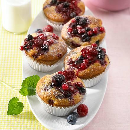 Beeren-Muffins mit Kefir Rezept