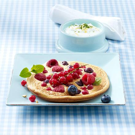 Beeren-Omelett mit Zitronen-Minz-Ricotta (Trennkost Eiweißgericht) Rezept