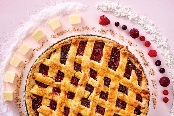 Beeren-Pie mit Gitter Rezept