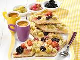 Beerenblechkuchen mit Mandeln (Diabetiker) Rezept
