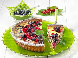Beerenkuchen mit Schmandguss (Diabetiker) Rezept