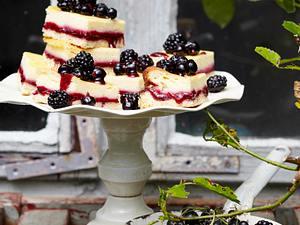 Berry-Lemon-Cheesecake-Squers Rezept