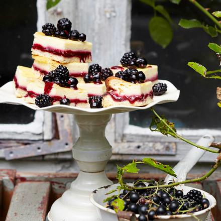 Berry-Lemon-Cheesecake-Squers Rezept