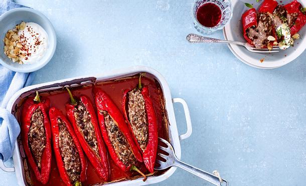 Biber Dolmasi – Gefüllte Paprika im Ofen gegart von Christina Richon Rezept