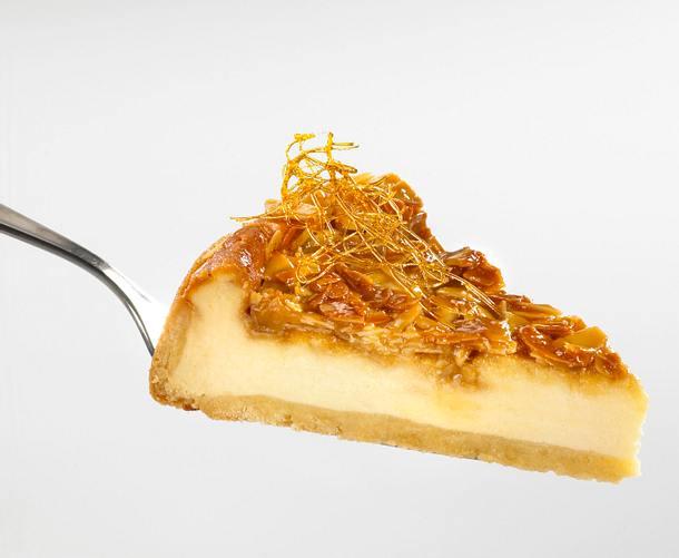 Bienenstich-Käsekuchen mit Puderzucker Rezept