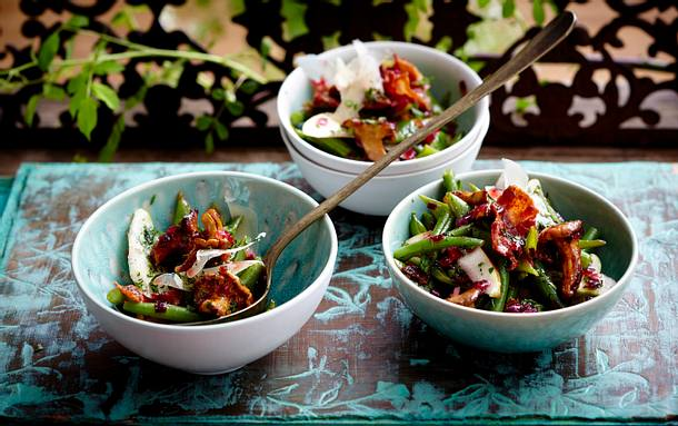 Birnen-Bohnen-Speck-Salat Rezept
