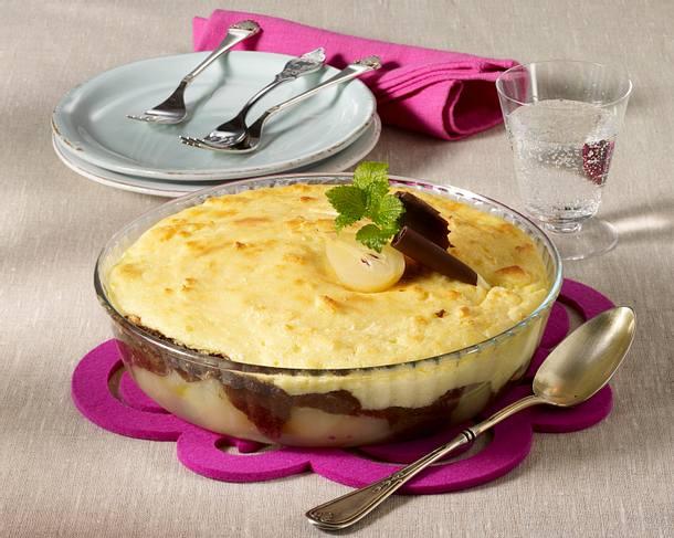 Birnen-Grieß-Auflauf Rezept