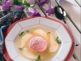 Birnen-Kaltschale mit Eis Rezept