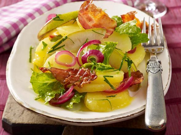 Birnen-Kartoffel-Salat mit Speck Rezept