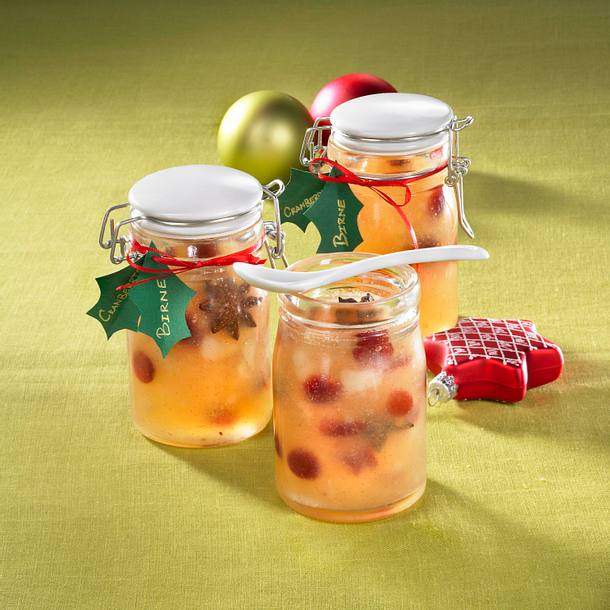 Birnen-Konfitüre mit Cranberries Rezept