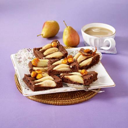 Birnen-Macadamia-Schnitten vom Blech Rezept