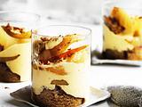 Birnen-Mandel-Trifle mit Orangensabayon Rezept