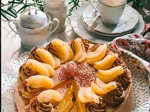 Birnen-Moccacreme-Torte Rezept