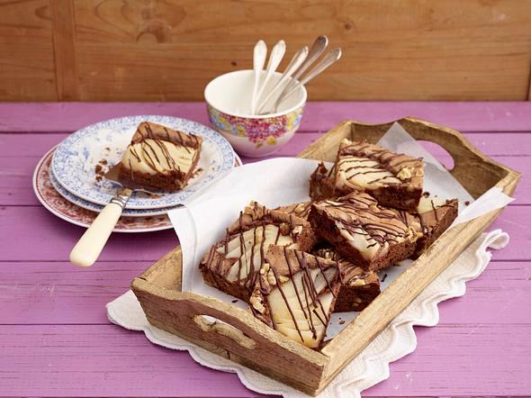 Birnen-Nuss-Brownies vom Blech Rezept